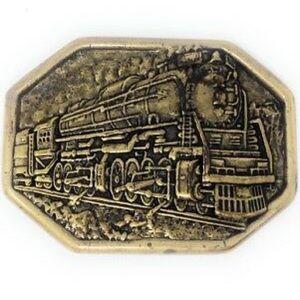 Vintage Avon Steam Locomotive Train Brass Buckle